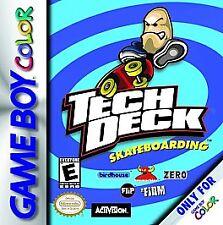 TECH DECK SKATEBOARDING GAME BOY COLOR GBC COSMETIC WEAR