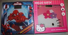 CHOICE - Spiderman or Hello Kitty Digital LCD Bathroom Scale