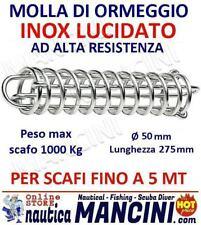 MOLLA PER ORMEGGIO ACCIAIO INOX + MOLLE OFFERTA 2PZ barca barche SCAFI FINO 5 MT