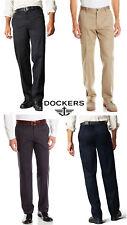 Dockers Men's Pants Straight Fit Signature Khaki D2 Flat Front Dress Pant NEW