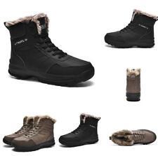 Men's Large Size Winter Snow Ankle Boots Shoes Fur Inside Warm Non-slip Outdoor