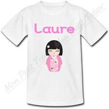 T-shirt Enfant Kokeshi avec Prénom Personnalisé