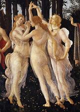 Sandro Botticelli-tre grazie in primavera vintage fine art print