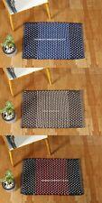 Indian Non-Slip Rug Carpet Bathroom Cotton Hand Woven Bedroom Indoor Door Mats