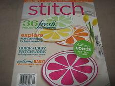 STITCH Spring 2012 Creating Fabric Thread DIY Coat BABY FULL SIZE PATTERN INSERT