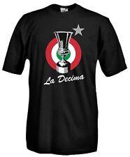 T-Shirt Sport J631 la decima Coppa italia Bianco Neri Supporters 10 Win