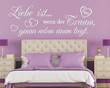 Wandtattoo Spruch - Liebe ist wenn der Traum Wandsticker Wandaufkleber Aufkleber