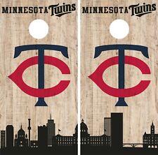 Minnesota Twins Cornhole Wrap MLB Game City Skyline Skin Vinyl Decal CO930