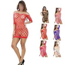 SeXy Minikleid Kleid Bodystocking Dessous Nylon Netzbody Ouvert GoGo S M L