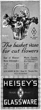 Heisey Glassware CRYSTAL Basket Vase for Cut Flowers ORIGINAL 1915 MAGAZINE AD