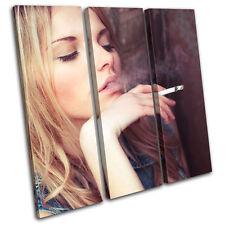 Smoking Girl Fashion TREBLE LONA pared arte Foto impresion