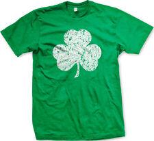 Shamrock Clover Irish Charm St Patricks Day Ireland Emerald Isle Mens T-shirt