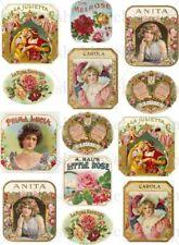 Furniture Decal Image Transfer Vintage Cigarette Cards Girls Adverts Sign Shabby