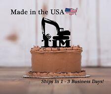 Backhoe Cake Topper, Construction, Custom Birthday Keepsake - LT1315