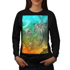 Beach Palm Tree Holiday Women Sweatshirt NEW | Wellcoda
