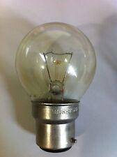 10 x 15w BC Bayonet Cap B22 Clear Round Golf Ball Light Bulbs Lamp Great Value!