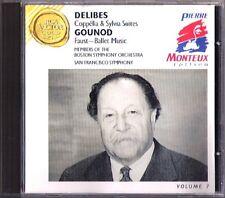 Pierre MONTEUX: DELIBES Coppelia Sylvia Suites GOUNOD Faust Ballet CD RCA