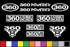 360 CI V8 POWERED 10 DECAL SET 5.9 ENGINE STICKERS EMBLEMS FENDER BADGE DECALS