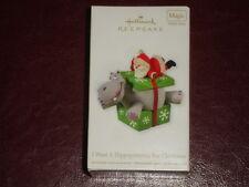 NIB HALLMARK ORNAMENT 2012 I Want a Hippopotamus for Christmas Hippo Santa Magic