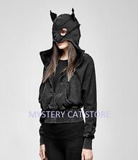 New PUNK RAVE Gothic Rock Black Cotton Catwoman Hoodie Jacket PY-208 AUS STOCK