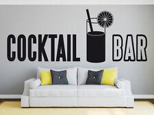 Wandaufkleber Cocktail Bar Theke Tresen Disco Deko Hobbyraum Bar Glas WandTattoo