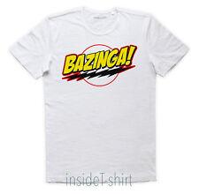 MAGLIETTA BAZINGA maglia the big bang theory Sheldon Cooper Penny T-SHIRT MAN