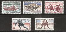SENEGAL, # 202-206 MNH SPORTS. HORSERACING, WRESTLING