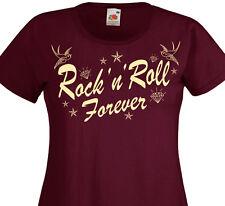 T-shirt femme ROCK'N'ROLL Forever -  Rockers Teddy Girl 50's Rockabilly Tattoo