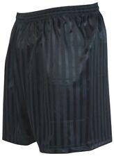 "Precision Training Continental Black Shadow Striped Shorts Football Sizes 22-40"""