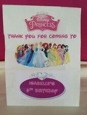 DISNEY Principessa tema personalizzato Party Sacchetti per una festa di compleanno