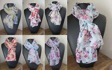 Foulard/chèche imprimé bouquet de fleurs 76 X 182 cm