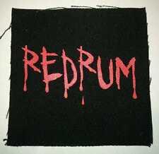 The Shining Redrum Silk Screened Jack Nicholson Sew-on Canvas Patch Punk Rocker