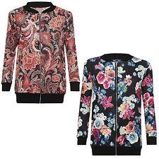 New Ladies Plus Size Zip Blazer Jacket Ribbed Coat 14-28