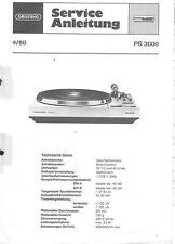 Grundig Original Service Manual für PS 3000