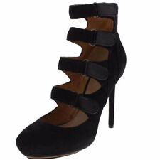 L.A.M.B. Gwen Stefani Black Suede leather Georgio Ankle strap boots 7 7.5 8