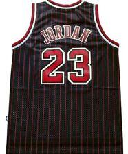 CANOTTA/JERSEY COLLEZIONE-BASKET NBA-CHICAGO BULLS-JORDAN #23-NERA STRISCE ROSSE