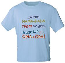 (08108) BAMBINO BAMBINI T-SHIRT TGL 86- 164 anche rosa 6 lingue MAMMA PAPA