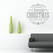 Buon natale adesivi da parete happy new year finestra negozio insegna arte xm3