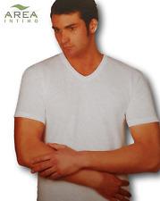 AREA. Maglietta intima - T-shirt, Uomo manica corta, scollo V, Cotone caldo. 806