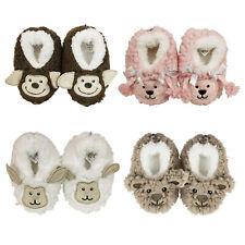SLUMBIES - BABY SHERPA DESIGNS - Kid's Soft Animal Slippers Non-Slip Grip *NEW**