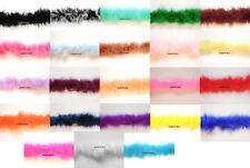 10 Metres Marabou String Feather Boa Trimming Trim Many Colour Black White Blue