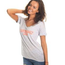 OFFICIAL Amnesia Ibiza Women's T-Shirt Classic Logo Top Grey Heather Black