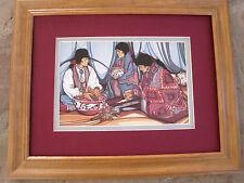 Amado Pena Native American Yaqui Mestizo Series La Cosecha Framed Matted