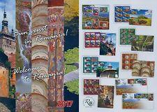 Rumänien 2017 Donaudelta,Kloster Voronet,Schäßburg Mi.7249-54 A,Zf,KB,Block 705