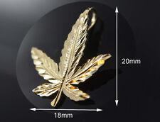 Marijuana Leaf Pendant Weed 14k Gold Pendant Mary J Pot Hoja Medicinal Oro 26117