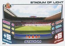 N°253 STADIUM OF LIGHT SUNDERLAND.FC TRADING CARD MATCH ATTAX TOPPS 2013