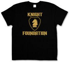 BLACK KNIGHT FOUNDATION LOGO T-SHIRT - TV Rider Serie Kult hasselhoff K.I.T.T.