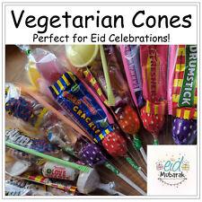 Pre Filled Vegetarian Retro Sweet Cones Eid Celebration Halal Kids Party Bags