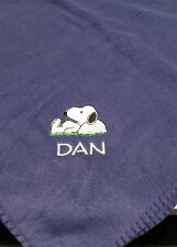 Snoopy Woodstock Charlie brown Personalized birthday Fleece Blanket Throw Gift
