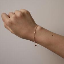 Beads by Yard Chain Bracelet 14K Solid Gold Beaded Layering Minimalist Bracelet
